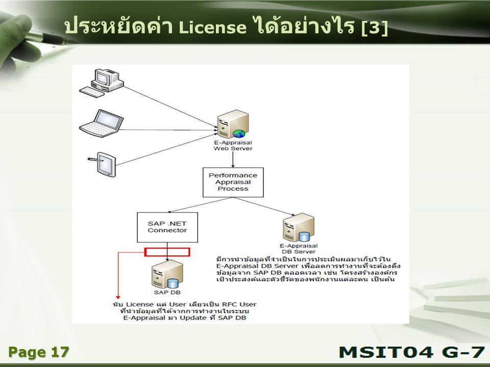 ประหยัดค่า License ได้อย่างไร [3]